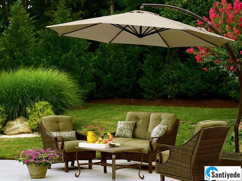 Dekoratif bahçe şemsiyesi
