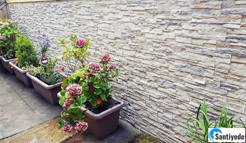 Doğal taş, ahşap ve beton kaplama