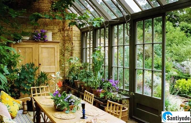 Villa bahçe düzenlemesi Kış bahçesi