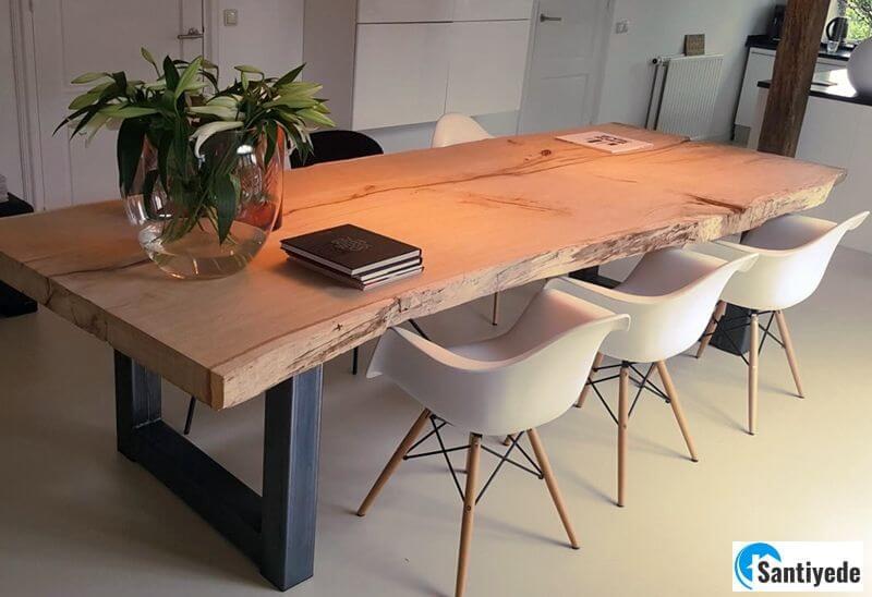 Kütük mutfak masası