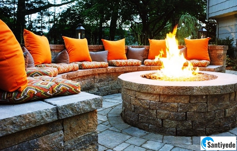 Taştan oturma alanları yapılması ve ateş çukuru