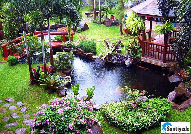Villa bahçesi yapay gölet