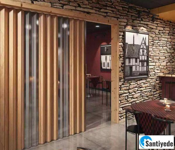Cafe Restaurant Akordeon Kapı Modeli