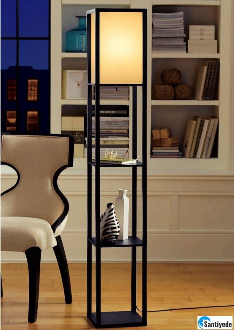 Raflı lambader modeli
