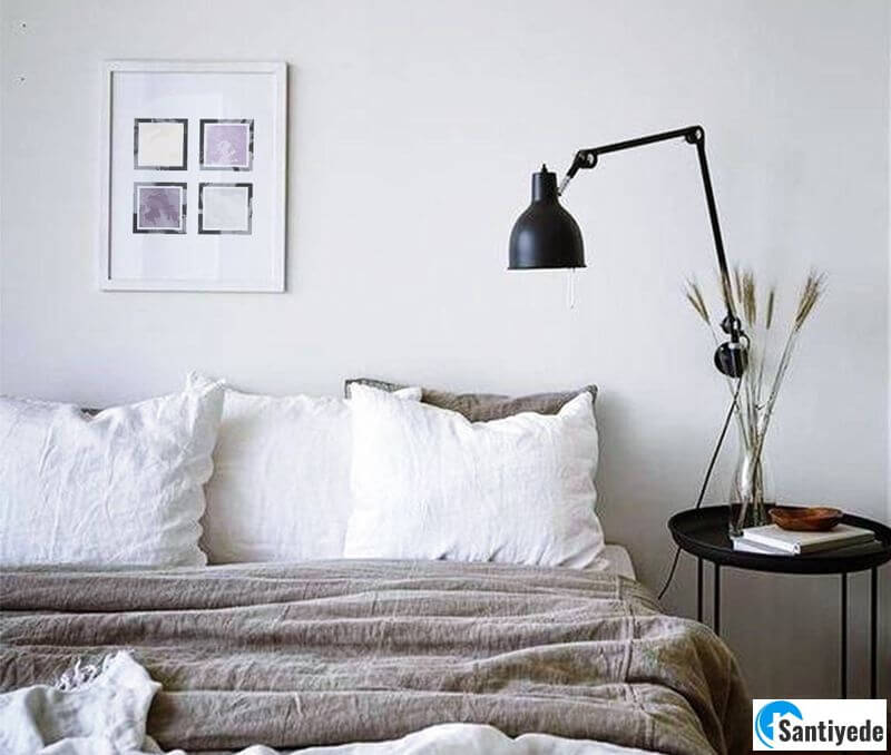 Yatak odası lambader modeli
