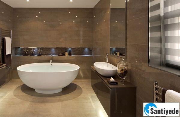 Kahverengi banyo