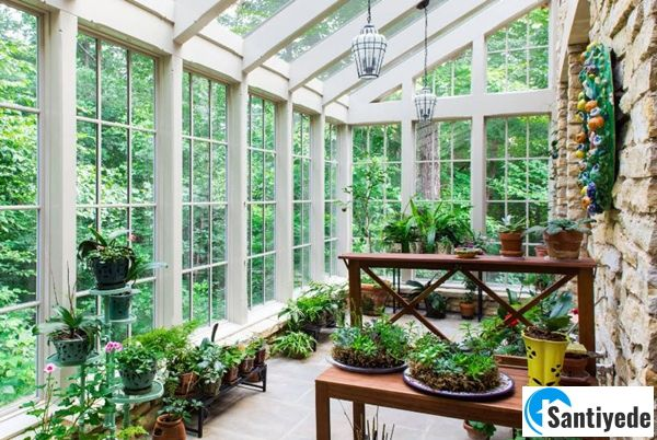 Kış bahçesi cam duvar