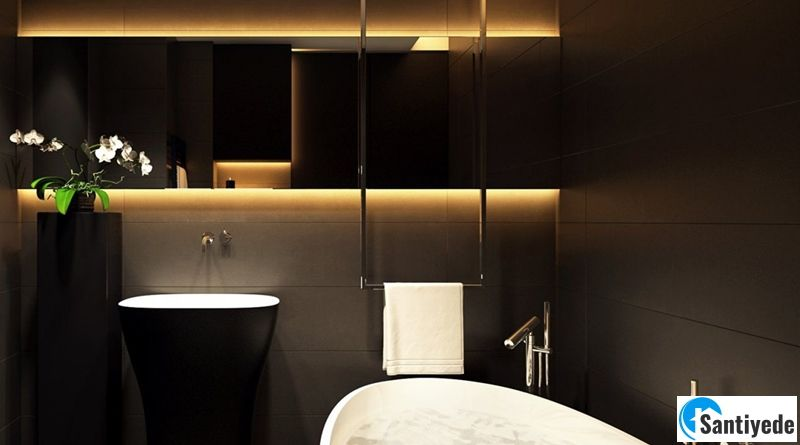Koyu Renkli Banyo Dekorasyonu ile Zarafeti Yakalayın