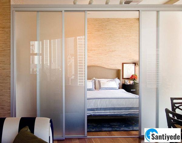 Yatak odası sürgülü cam kapı