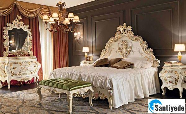 Yatak odası barok dizayn